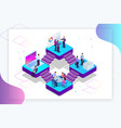 isometric analysis data and investment project vector image