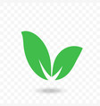 leaf green icon for vegan bio eco label vector image
