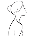 Line drawing of women profile vector image