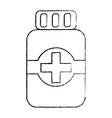 medical bottle medicine pharmacy symbol vector image vector image
