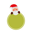 merry christmas santa claus badge decoration vector image vector image