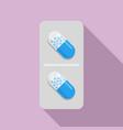 modern antibiotic capsule icon flat style