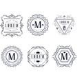 monogram logo templates set luxury business sign vector image