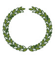 olive crown in green color vector image vector image
