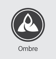ombre crypto currency omb pictogram vector image vector image