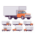 orange truck set vector image vector image