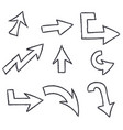 outline arrows vector image