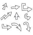 outline arrows vector image vector image