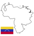 outline country of the state of venezuela vector image