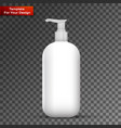 plastic clean white bottle with dispenser pump vector image vector image