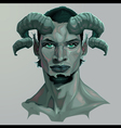 Portrait of a faun vector image vector image