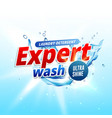 product design template for laundry detergent or vector image vector image