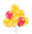 Red Orange Yellow Balloons Set Isolated vector image vector image