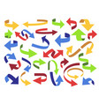 ribbon 3d arrow flip arrows colorful pointer and vector image