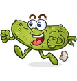 running pickle cartoon character vector image vector image
