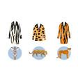 safari jungle animals fur cloths with animals vector image