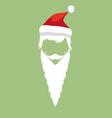 Santa Claus hipster fashion style vector image vector image