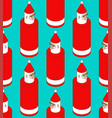 santa toy for christmas tree pattern christmas vector image vector image