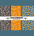 set of halloween backgrounds collection vector image