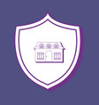 shield and house design vector image vector image