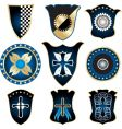 shields and medals vector image vector image