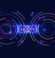 shining neon circle trendy background colorful vector image vector image