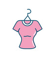 shopping clothes in the market with style design vector image