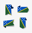 solomon islands flag stickers and labels vector image vector image