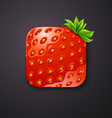 Strawberry texture icon stylized like mobile app vector image