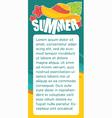 summer sticker vector image vector image