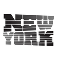 T shirt typography graphics New York lines vector image vector image