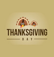 thanksgiving day greeting card collection vector image