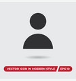 user icon in modern style for web site and mobile vector image vector image