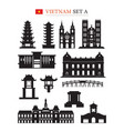 vietnam landmarks architecture building object set vector image vector image
