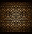 vintage gold ornamental background vector image