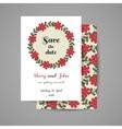 Wedding Invitation Floral Wreath vector image vector image