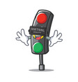 with virtual reality traffic light character vector image vector image