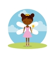 cute little fairy character vector image
