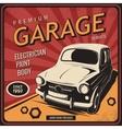 Vintage poster auto repair vector image