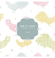 Abstract textile roosters frame seamless pattern vector image