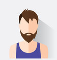 avatar man in modern flat design vector image
