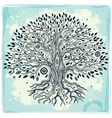 Beautiful vintage hand drawn tree of life vector image vector image