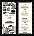 Black and White Restaurant Menu Design Template vector image vector image