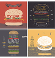 Burger cards - Hand drawn style vector image vector image