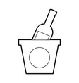 champagne bottle in ice bucket beverage party vector image