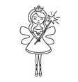 charming fairy with magic wand vector image vector image