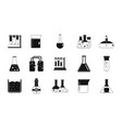 chemical pots icon set simple style vector image vector image