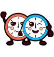 clocks kawaii icon image vector image