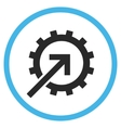 Cog Integration Flat Rounded Icon vector image