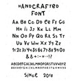 collection of hand made font vector image